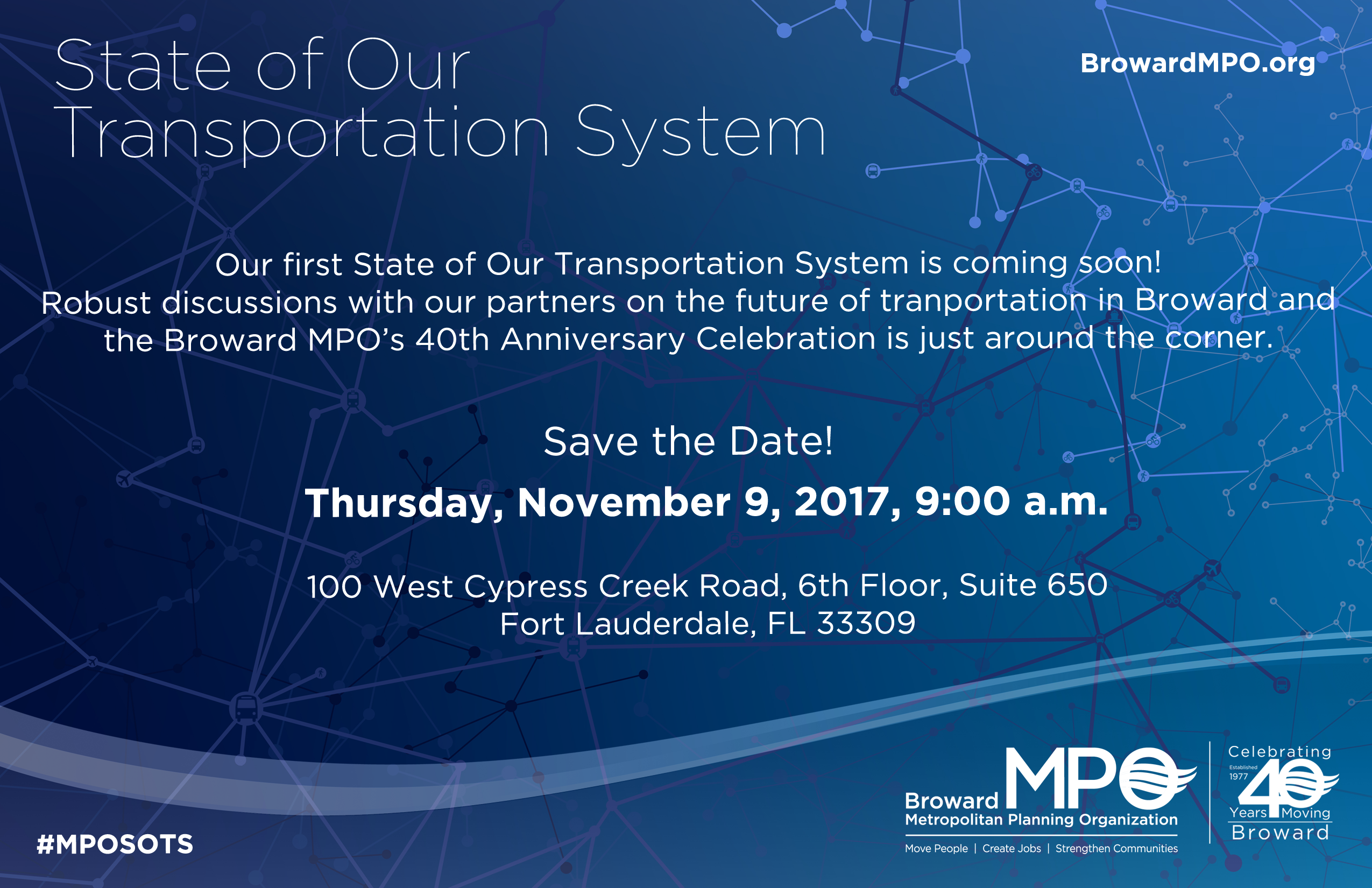 Broward MPO Celebrates 40 Years