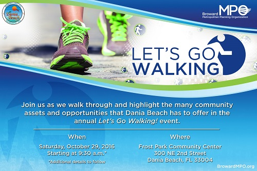 "First ""Let's Go Walking"" Event To Be Held in Dania Beach"