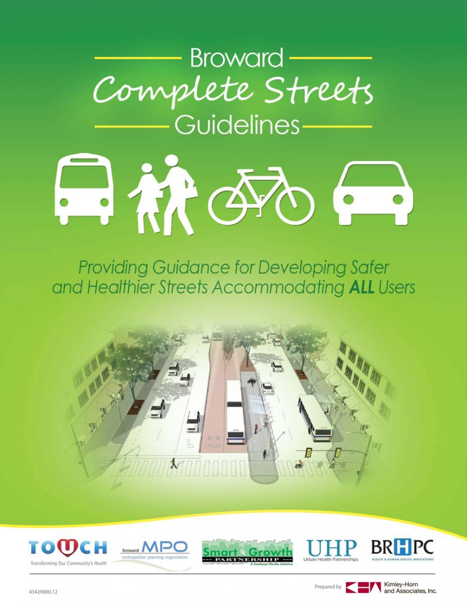 Broward Complete Streets Cover