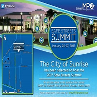 Sunrise Selected as Host of 2017 Safe Streets Summit